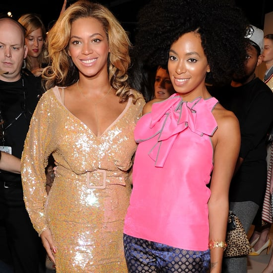 Beyonce Knowles and Solange Knowles at Fashion Week Pictures