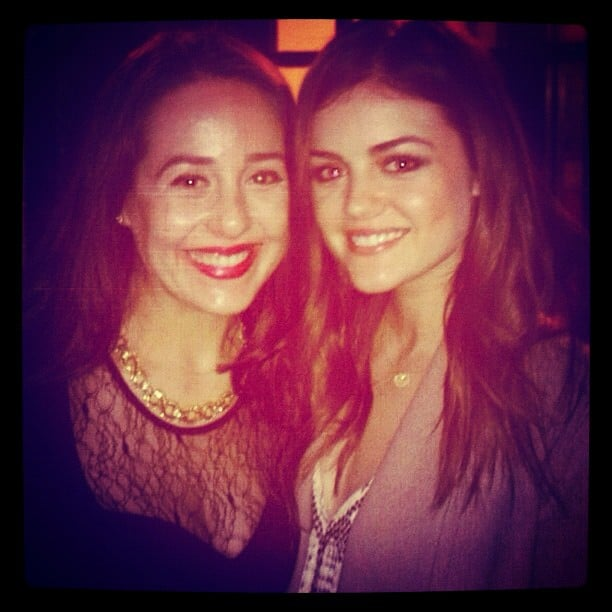 Lucy Hale had fun with a friend. Source: Instagram user lucyhale89
