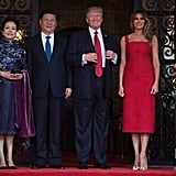 Melania's Red Cocktail Dress