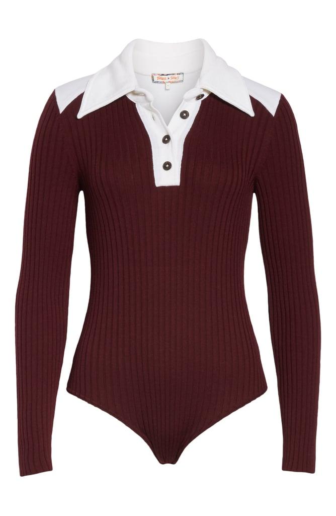 Long Sleeve Polo Bodysuit