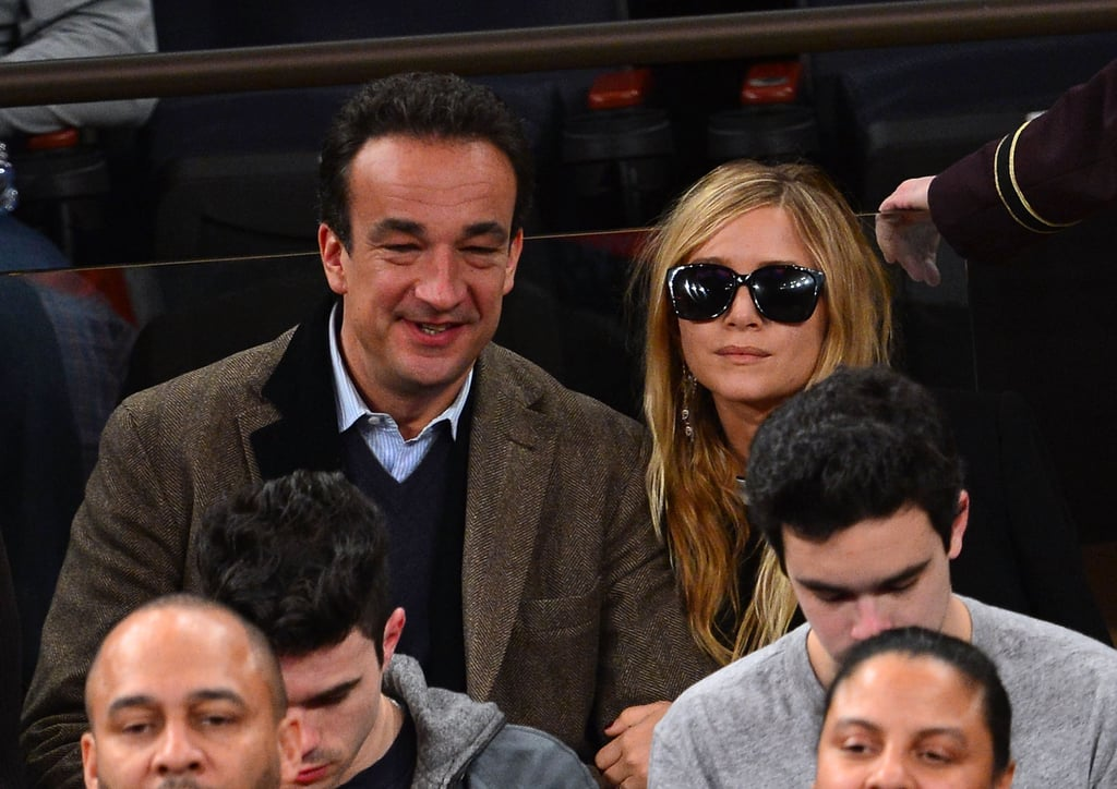 Mary-Kate Olsen and boyfriend Olivier Sarkozy watched a Knicks game.