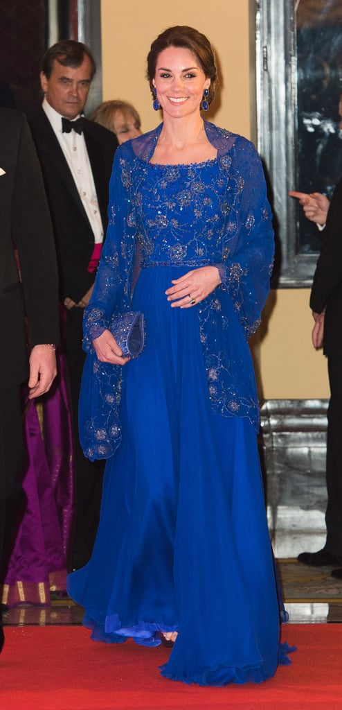 Wearing Jenny Packham to attend a gala in Mumbai in April 2016.