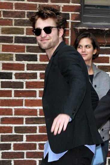 Robert Pattinson arrived at ''The Late show with David Letterman''