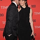 Justin Timberlake and Jessica Biel shared a secret on the red carpet.