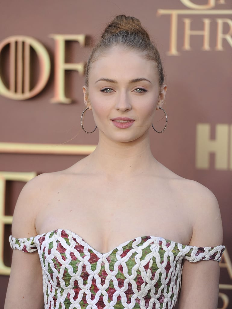 Sophie Turner's High Bun, 2015