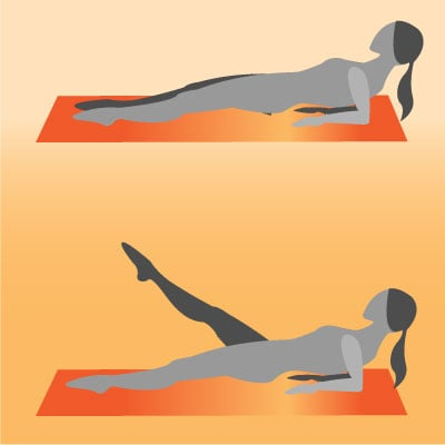 reverse elbow plank with leg lifts  exercises to do when
