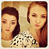 "Sophie shared a cute photo of the pair doing ""duck face"" in March 2013."