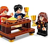 Harry, Hermione, and Ron at the Gryffindor Great Hall Table