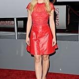 Kristen Bell had a red minidress in LA.