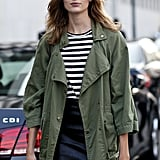When in doubt, throw on an army green parka.