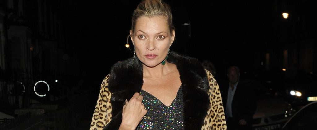 Kate Moss Just Wore the Most Glamorous Going Out Outfit Ever