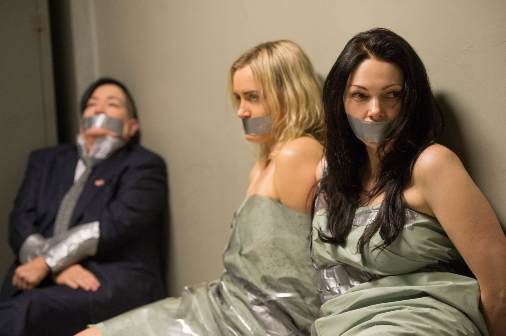 ORANGE IS THE NEW BLACK, Lea Delaria, Taylor Schilling, Laura Prepon in 'The Reverse Midas Touch'',  (Season 5, episode 510, aired June 9, 2017), ph: JoJo Whilden / Netflix / courtesy Everett Collection