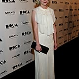 Kirsten Dunst chose a ruffle-front Chanel Resort.