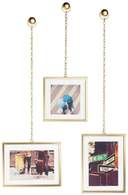 Set of Three Dangling Photo Frames ($35) | Prettiest Picture Frames ...