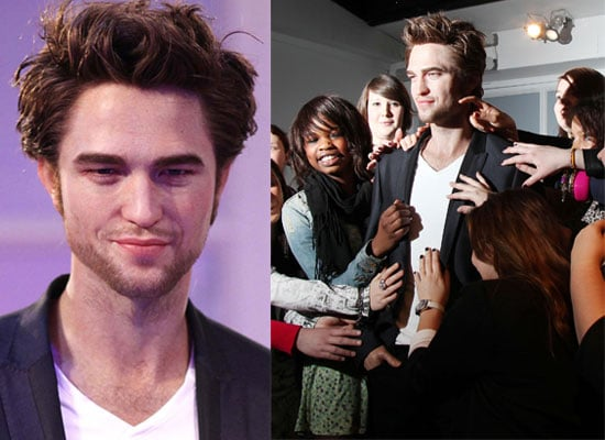 Photos of Twilight Star Robert Pattinson's Finished Waxwork Which Can Be Seen at Madame Tussauds in London
