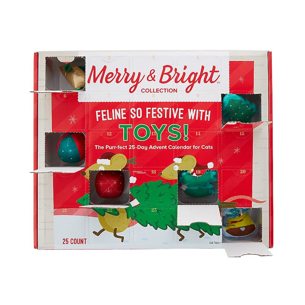 Merry & Bright Holiday 25-Day Advent Calendar For Cats