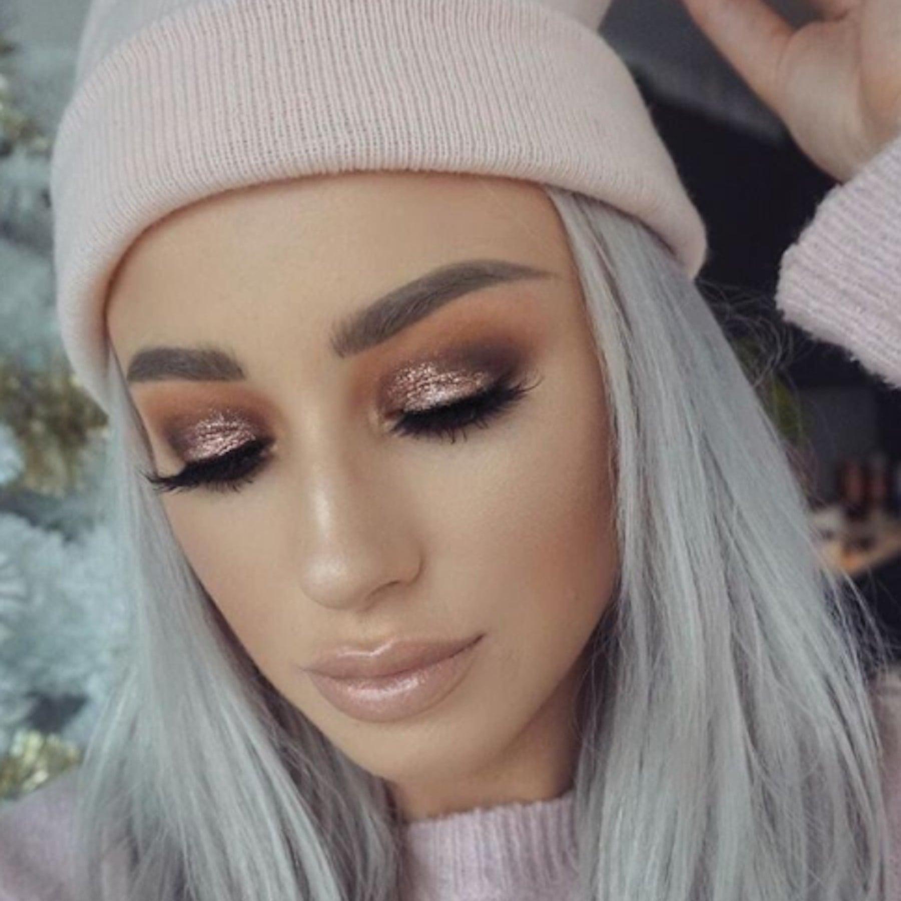 glitter makeup ideas 2018 | popsugar beauty