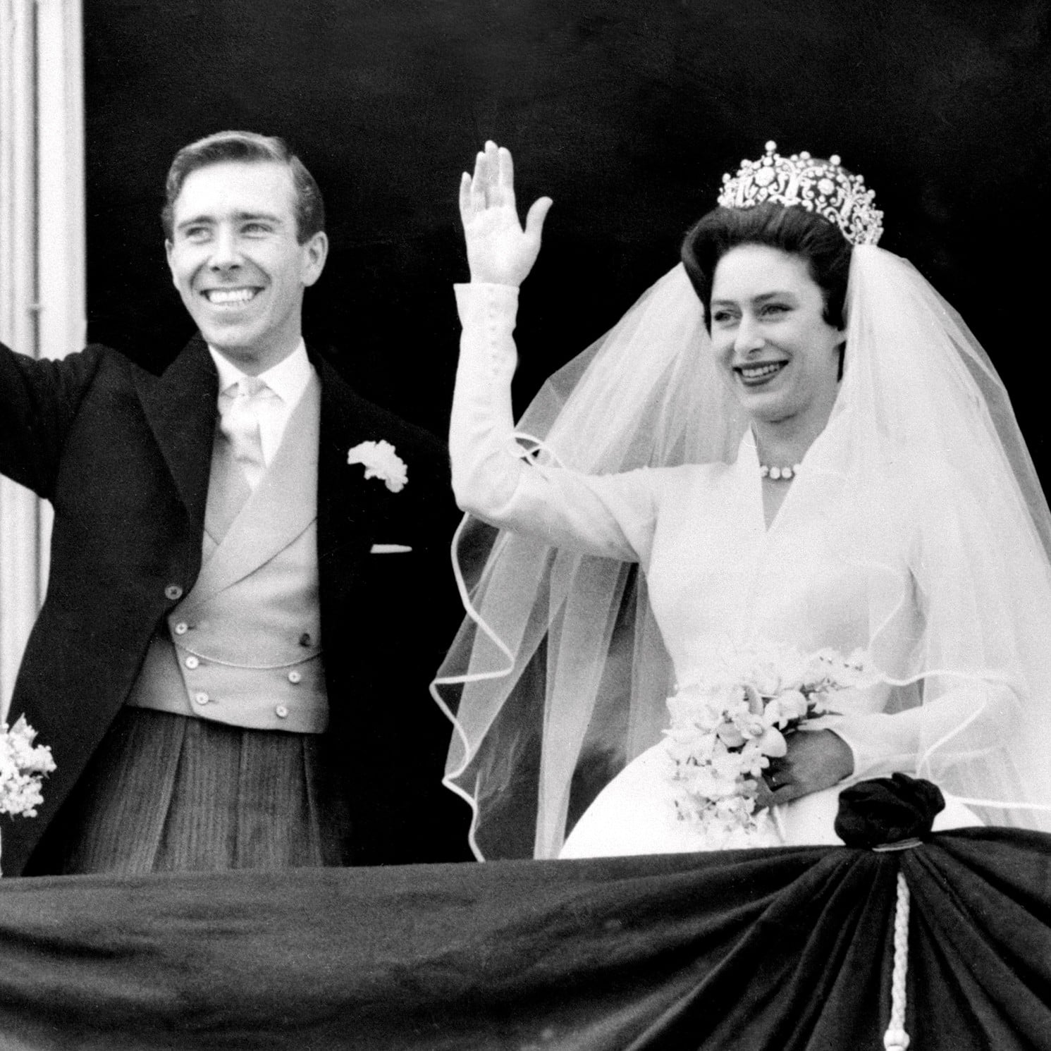 Princess Margaret S Wedding On The Crown Popsugar Entertainment
