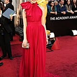 Emma Stone Walks the Oscars Red Carpet