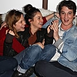 On Friday, Shailene Woodley and Brie Larson joked around with Miles Teller at Sundance.