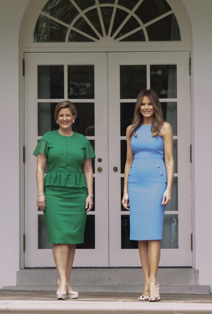 Melania Trump Chose a Light Blue Michael Kors Collection Dress
