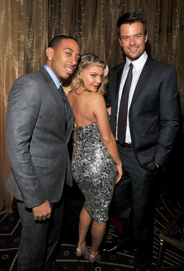 Fergie got cheeky with Ludacris and Josh Duhamel at the premiere party.