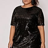 In The Style Curve Madeline Black Sequin Dress