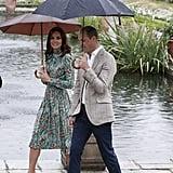 William and Harry at Princess Diana Garden Kensington Palace