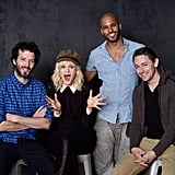 Austenland actors Bret McKenzie, Georgia King, Ricky Whittle, and JJ Feild had fun promoting their film.