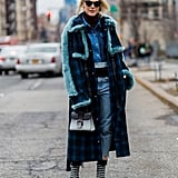 If You Have a Denim Jacket, Add a Turtleneck Underneath and Your Coat Right on Top