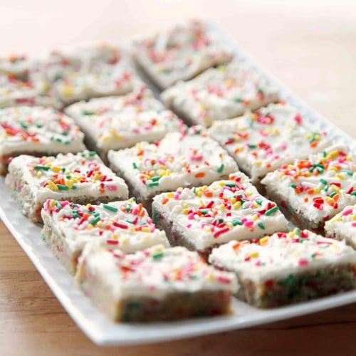 Cake Batter Blondie Bars