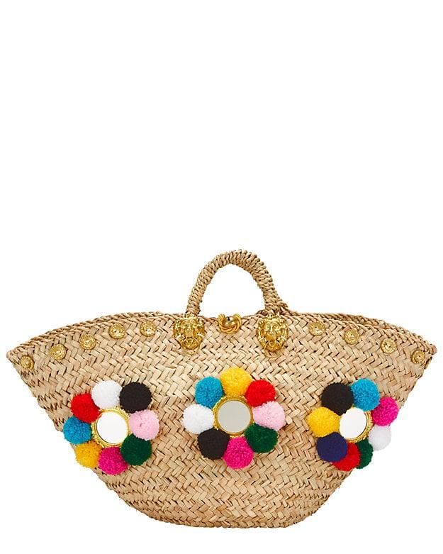 Muzungu Sisters Pom Detailed Sicilian Basket ($415)