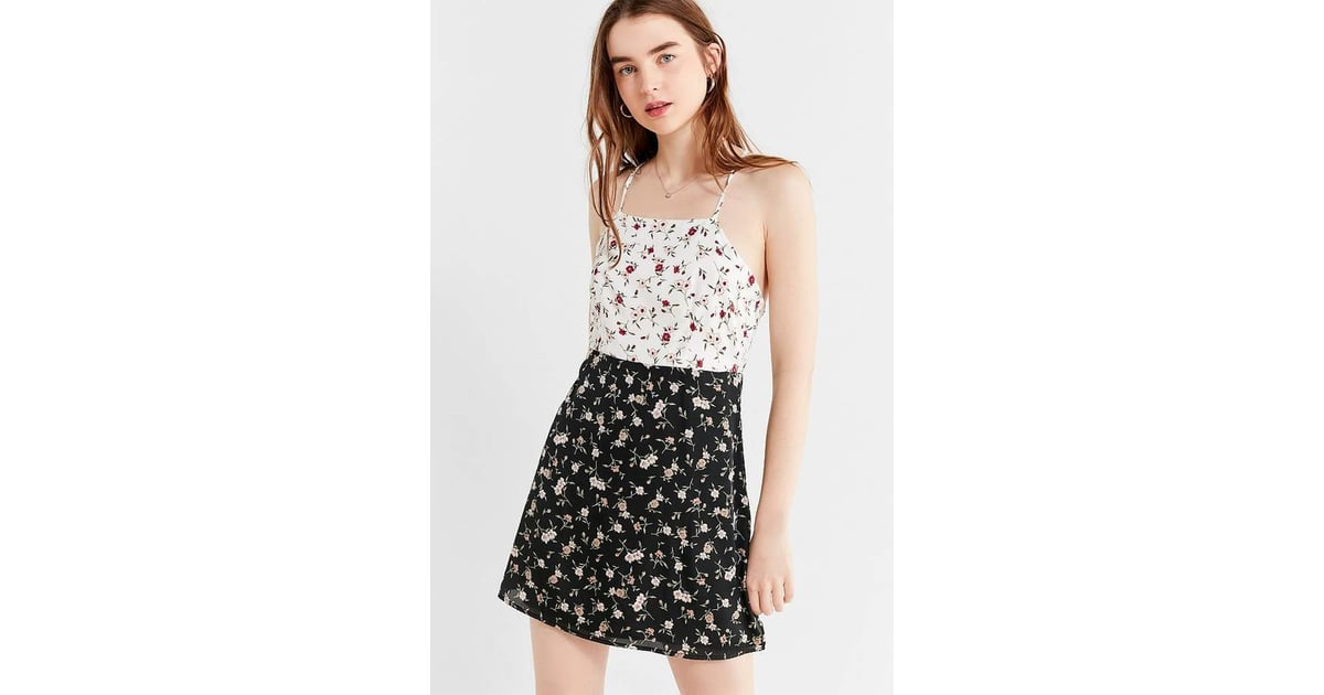 b228e3a978 Urban Outfitters Mixed-Print Floral Slip Dress | Best Floral Dresses ...