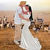Pregnant Pocahontas and John Smith