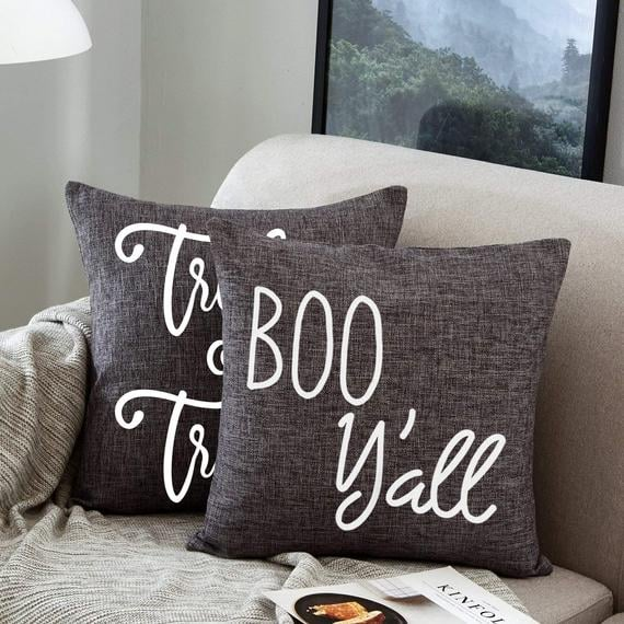Boo Y'all Halloween Pillow Cover