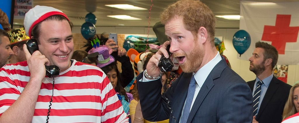 Prince Harry Gets Lost in a Sea of Waldos During Trading Day in London