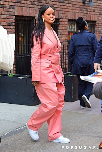 Rihanna Pink Suit and Fanny Pack