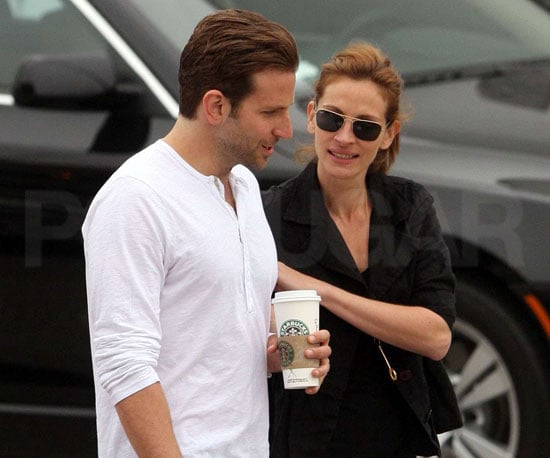 Photo Slide of Bradley Cooper and Julia Roberts Filming Valentine's Day