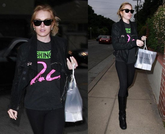 Lindsay's Got Her Controversy-Free Coat