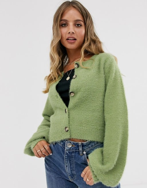 Emory Park Cardigan With Balloon Sleeves