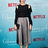 Alexis Bledel's Silver Pleated Skirt