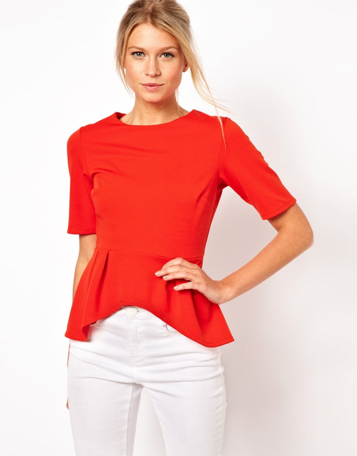 The brilliant hue on this ASOS peplum top ($42) would liven up any of your workwear.