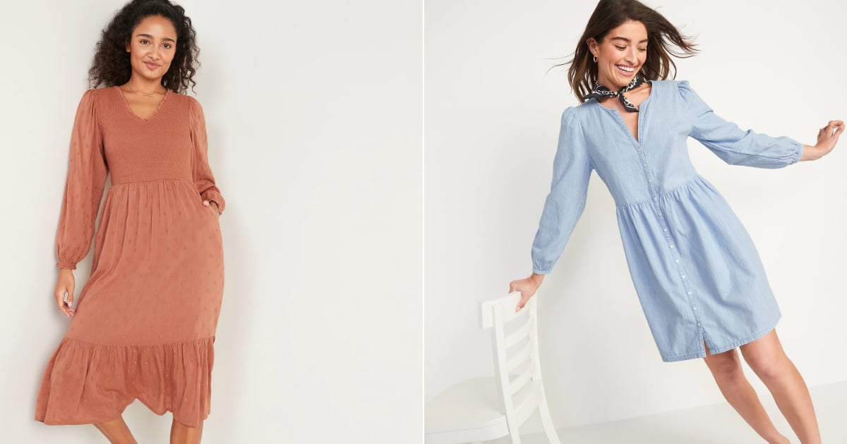 Leave a Jacket at Home, Because These Pretty Old Navy Dresses All Have Long Sleeves