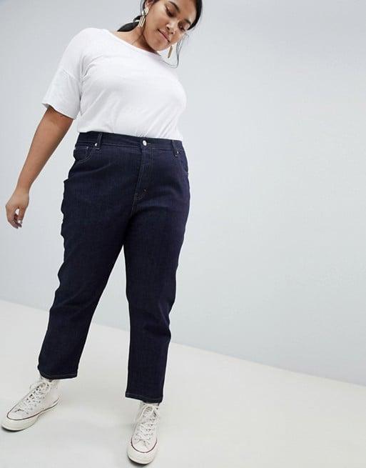Asos White Curve Straight Leg Jeans