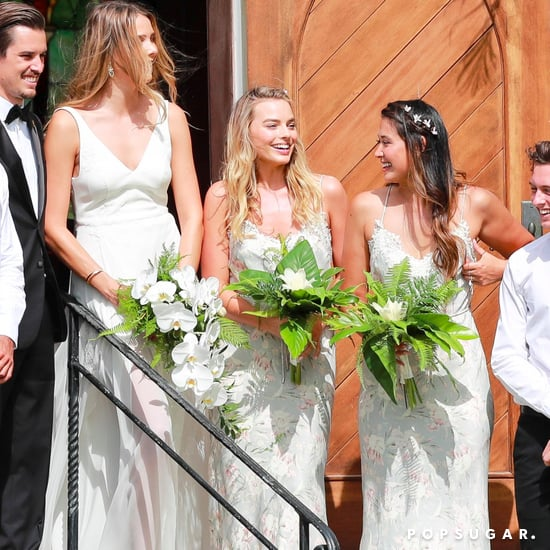 Margot Robbie Being Bridesmaid at Friend's Wedding May 2017