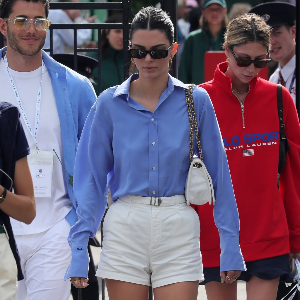 Kendall Jenner Took a Page Out of Meghan Markle's Book With Her Preppy Wimbledon Look