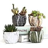 Sun-e Modern Style Marbling Ceramic Flower Pots