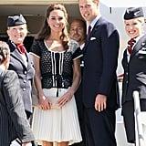 Prince William and Kate Middleton leave LA.
