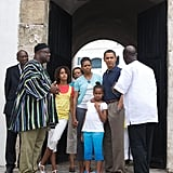 They then took a tour of Ghana's Cape Coast Castle in July 2009.