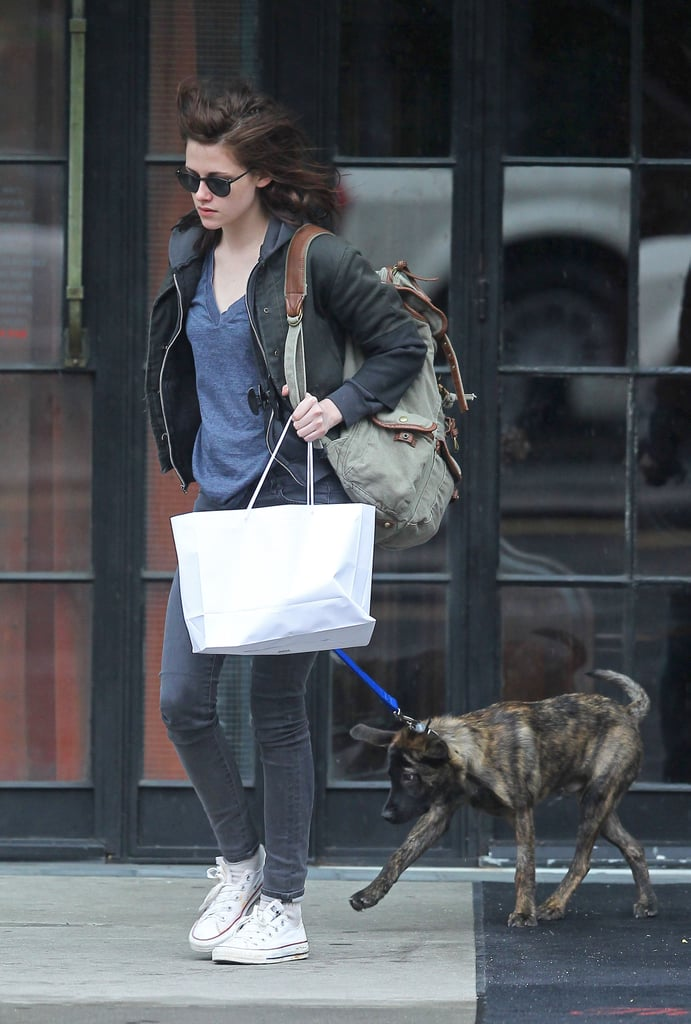Kristen Stewart Lands Her Prince and Takes Robert Pattinson's Dog Bear Out in NYC
